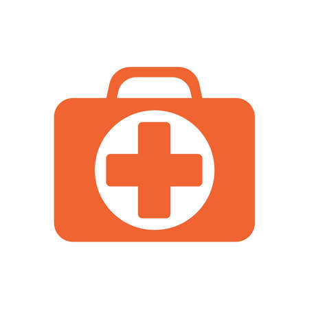 First Aid Kit Symbol and Medical Services Icon. Vector illustration