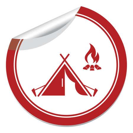 Stylized icon of tourist tent. Vector illustration
