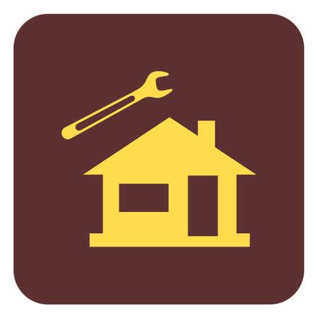 Plumbing work symbol icon vector illustration.
