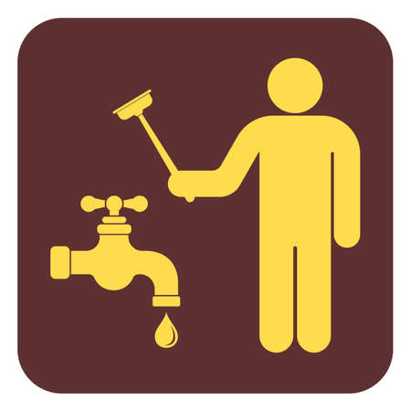 Plumbing work symbol icon vector illustration.