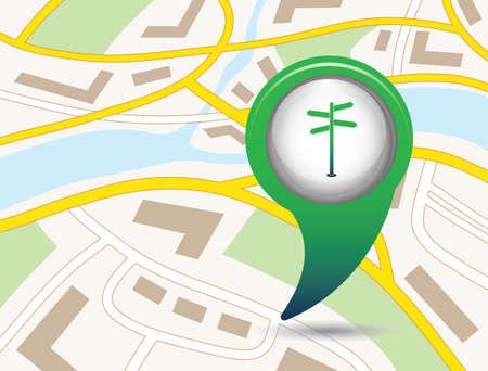 Road street Sign icon vector illustration