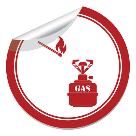 Camping stove icon. Vector illustration.