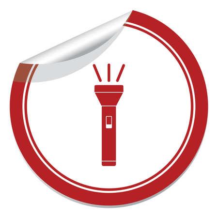 Flashlight icon. Portable torch vector isolated illustration