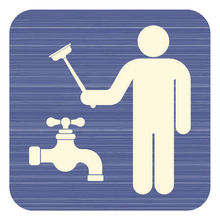 Water pipe repair icon. Stock Illustratie