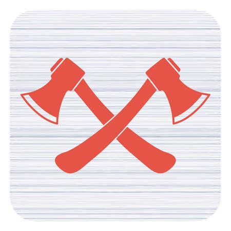 The ax icon. Axe symbol. Flat Vector illustration   Illustration