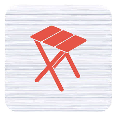 Camping stool icon. Vector illustration