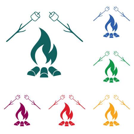 Zephyr on skewer icon vector illustration. Stock Vector - 92573953