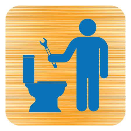 Plumbing work symbol icon. Vector illustration