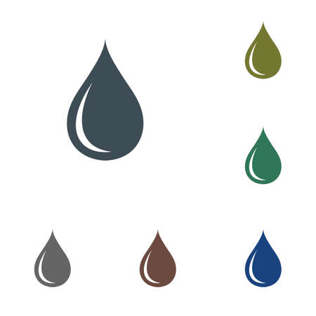 Water drop icon. Vector illustration.