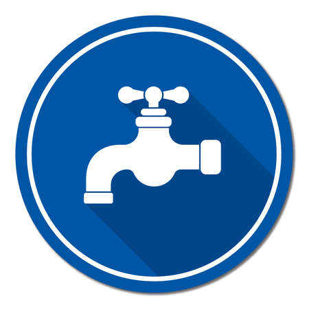 Water tap icon. Vector illustration Stok Fotoğraf - 93008022