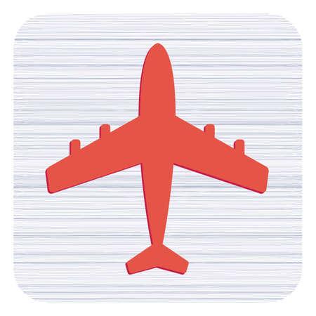 Plane icon simple flat vector illustration. Illustration