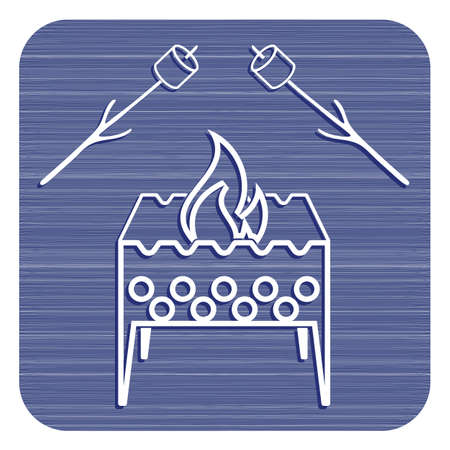 Brazier and zephyr icon. Vector illustration