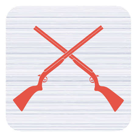 Hunting shot gun icon. Vector illustration   Illustration