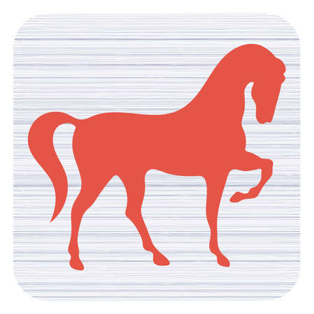 Horse silhouette icon Illustration