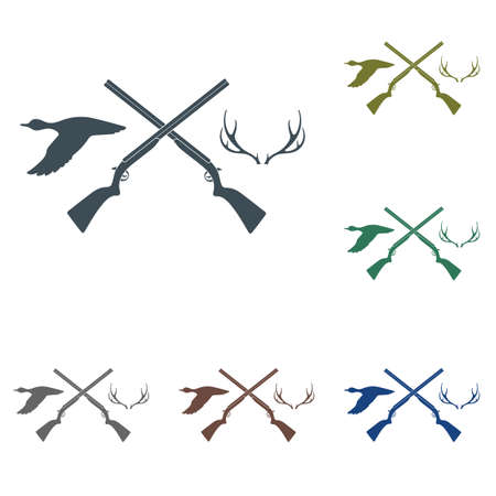 Hunting club icon. Vector illustration