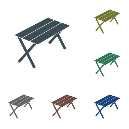 Camping table icon. Vector illustration