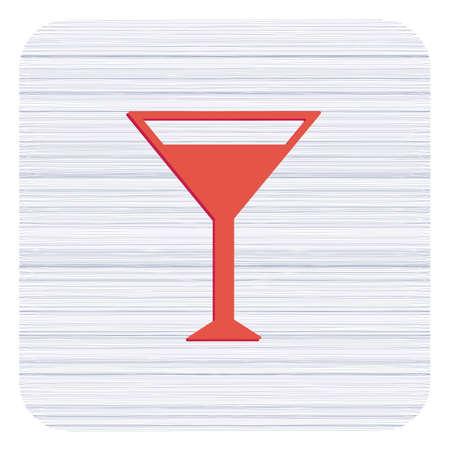 Cocktail glass sign with martini vodka icon. Vector illustration  Illustration