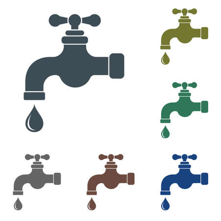 Water tap icon. Vector illustration  on white background.