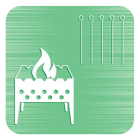 Camping Brazier icon. Vector illustration Stock Vector - 94940583