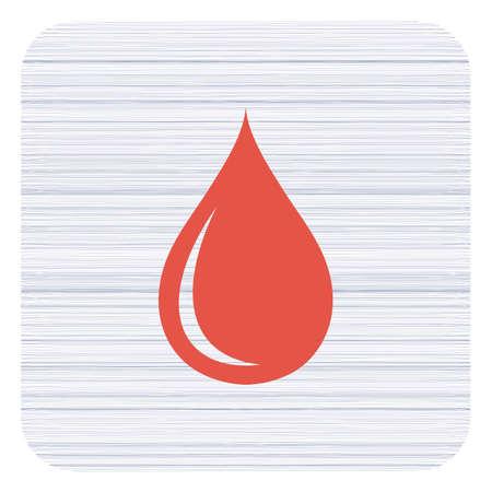Water drop icon vector illustration.