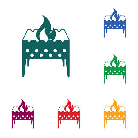 Camping brazier icon vector illustration. Illustration
