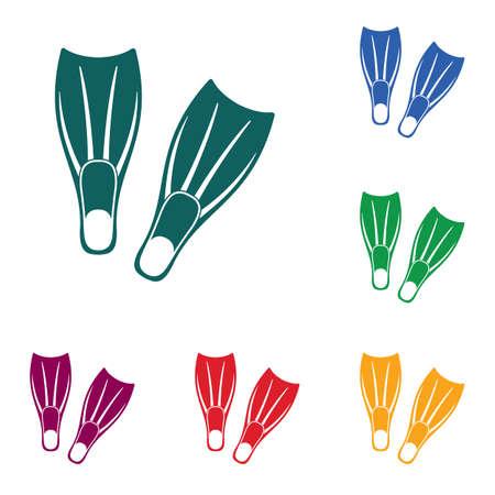 Palmes de plongée icône illustration vectorielle.