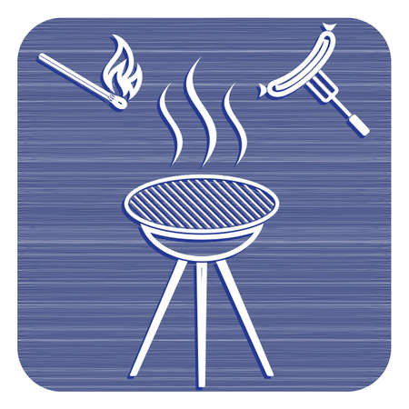 Barbecue sausage icon Vector illustration. Illustration