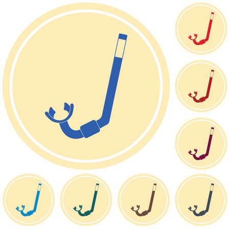 Diving Snorkel Icon. Tube for diving vector illustration isolated