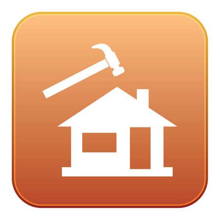 Roofer  slater icon. Vector illustration Illustration