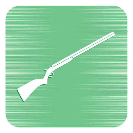 Hunting shot gun icon Vector illustration isolated on white background. 免版税图像 - 95643363