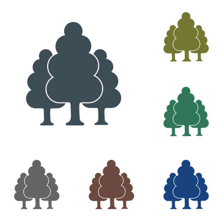 Deciduous forest icon. Vector illustration.