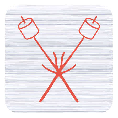 Zephyr on skewer icon. Vector illustration Stock Vector - 95892268