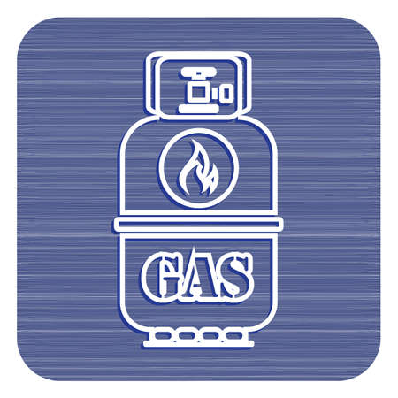 Camping gas bottle icon. Flat icon isolated. Vector illustration  イラスト・ベクター素材
