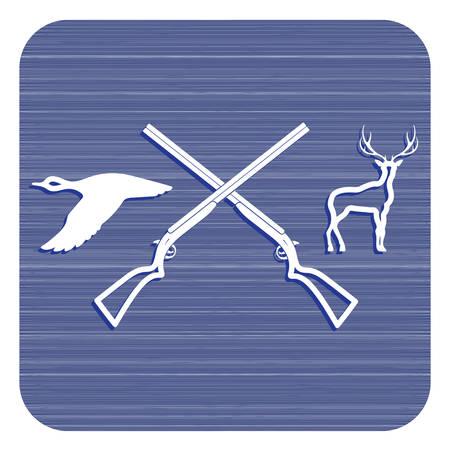 Hunting club logo icon. Vector illustration 版權商用圖片 - 96152000