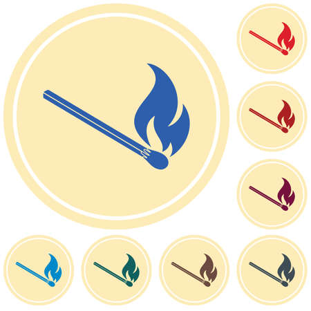 Match fire icon vector illustration.