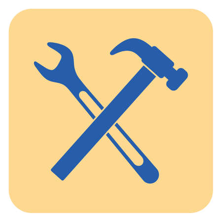 Plumbing work symbol icon on light background. Vector illustration. Illustration