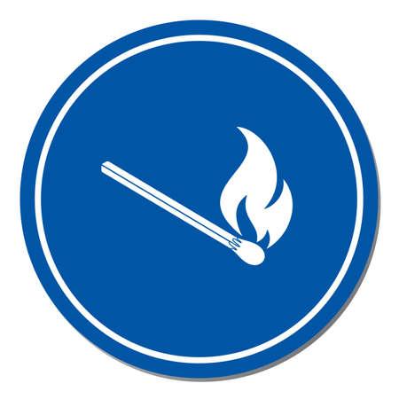 Match fire icon vector. Vector illustration