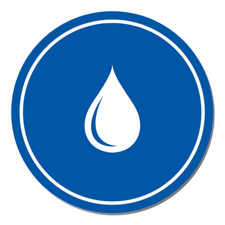 Water drop icon. Vector illustration Stok Fotoğraf - 96389994
