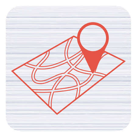 Pointer on map icon. Vector illustration