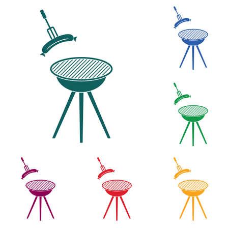 Barbecue sausage icon. Vector illustration. Stock Vector - 96779394