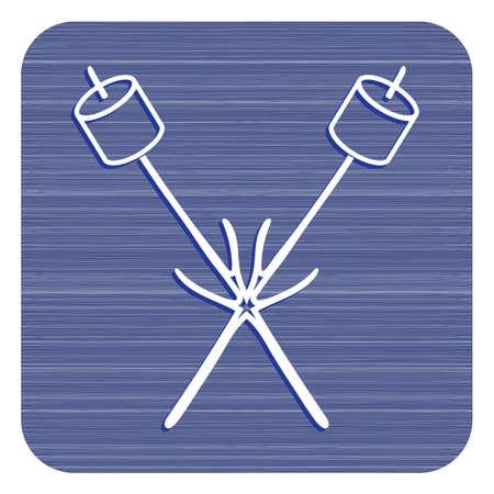 Zephyr on skewer icon. Vector illustration