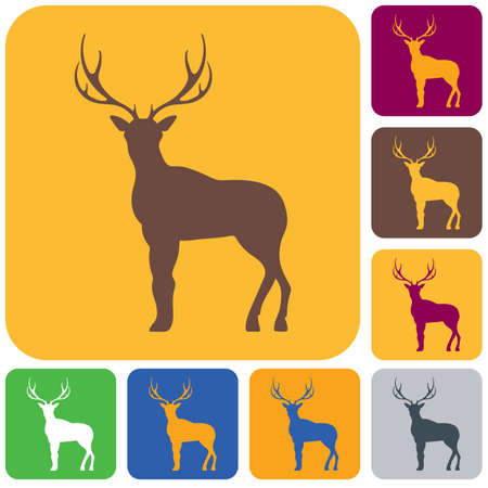 Silhouette of a deer vector icon.