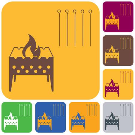 Camping Brazier icon.