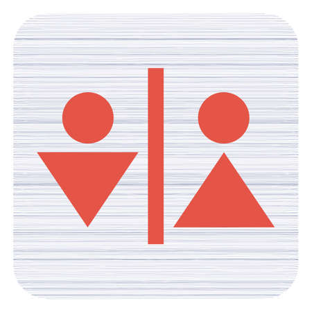 Man and Woman Toilet vector icon   Illustration
