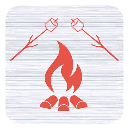 Zephyr on skewer icon. Vector illustration Фото со стока - 97574562