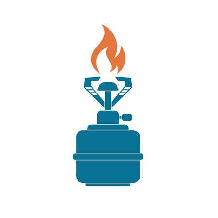 Camping stove icon vector. Vector illustration.   Illustration