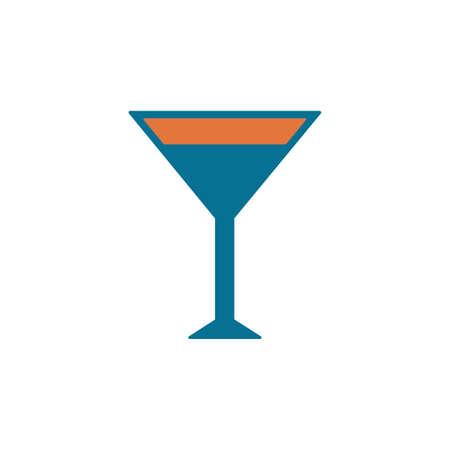 Cocktail glass sign with martini vodka icon. Vector illustration.