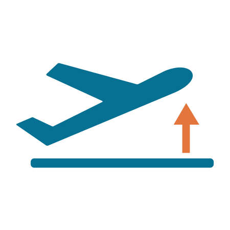 Departure take off plane icon simple flat vector illustration.