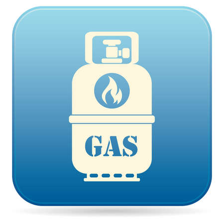 Camping gas bottle icon flat icon isolated vector illustration.