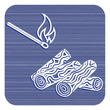 Firewood and matches icon Vector illustration design.